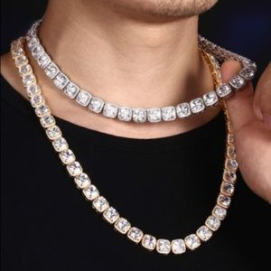 10mm  Icy Tennis Chain 18K Gold Plated Necklace